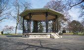 stock photo of gazebo  - Gazebo in a park in Geneva - JPG