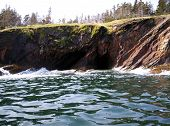 image of ironbound  - cave on west Ironbound Island Lahave Lunenburg County Nova Scotia Canada - JPG
