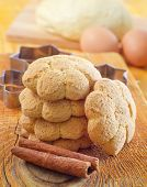 picture of cookie  - fresh cookies on the wooden table - JPG
