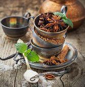 stock photo of vanilla  - Cocoa powder - JPG