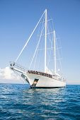 stock photo of mast  - Huge sailing ship with two mast - JPG