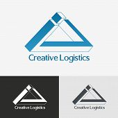 pic of impossible  - Triangle impossible vector logo design template - JPG