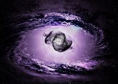 stock photo of hydrogen  - Black hole in space - JPG