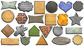 picture of octagon shape  - Set of different textured application icons - JPG