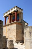 foto of minos  - North Entrance of reconstruction of the Minoan palace - JPG