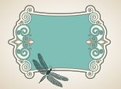 image of dragonflies  - Dragonfly  baroque banner  - JPG