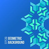 pic of asymmetric  - vector blue green colors asymmetric abstract geometric background - JPG