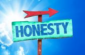 picture of honesty  - Honesty sign with sky background - JPG