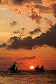 pic of boracay  - Beautiful sunset at Boracay Philippines - JPG