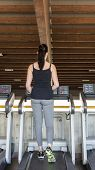 picture of treadmill  - the treadmill for running inside a gym - JPG