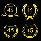 pic of laurel  - forty five years anniversary laurel fifty years anniversary  laurel gold wreath set - JPG