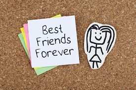 picture of  friends forever  - Best friends forever cheerful cute note on bulletin board - JPG