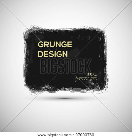 Grunge vector template for Inspirational quote or other text and design