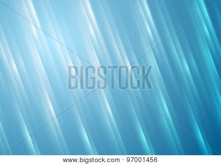 Blue blurred shiny stripes abstract background. Vector design