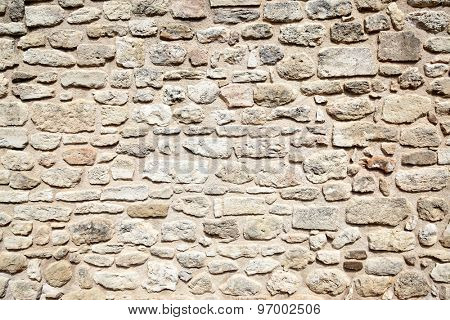 Old stone wall texture, may be used as background