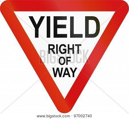 Irish Yield Sign - Extended English Version