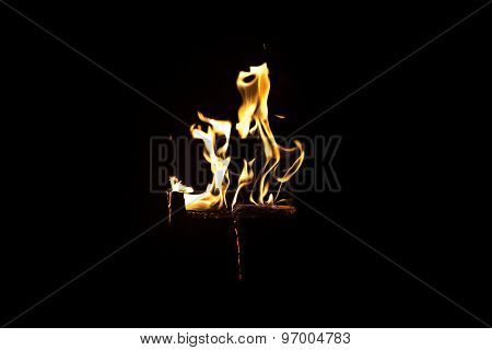 Image of dancing fire