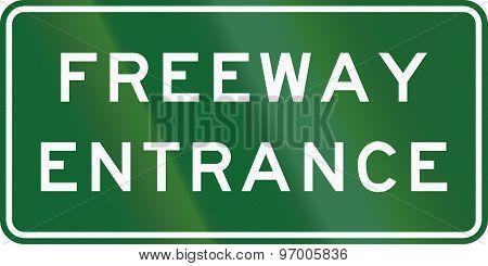 Freeway Entrance In Australia