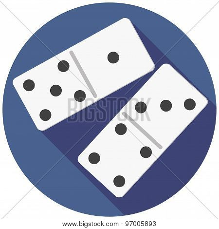 Vector illustration of dice domino.