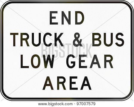 End Low Gear Area In Australia