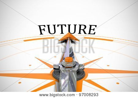 The word future against compass
