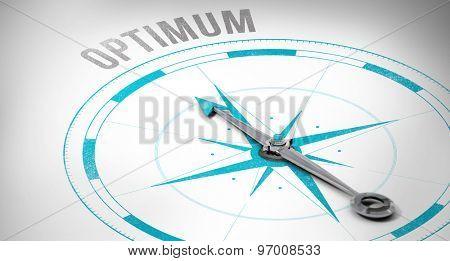 The word optimum against compass