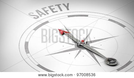 The word safety against compass