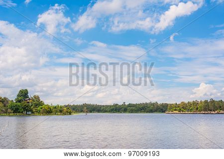 Image Of Raft And Blue Sky