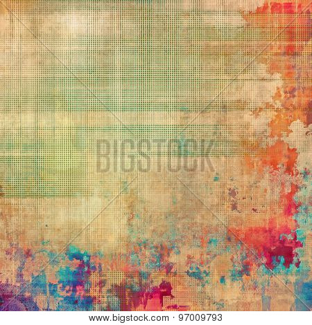 Old, grunge background or ancient texture. With different color patterns: yellow (beige); pink; blue; red (orange)