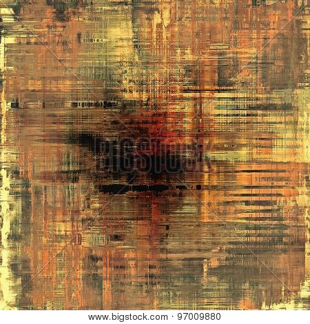 Old ancient texture, may be used as abstract grunge background. With different color patterns: yellow (beige); brown; black; red (orange)