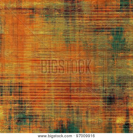 Vintage texture with space for text or image. With different color patterns: yellow (beige); brown; green; red (orange)