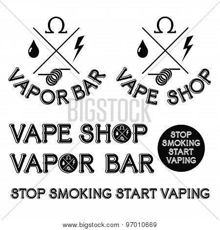 Vapor Bar And Vape Shop Logo