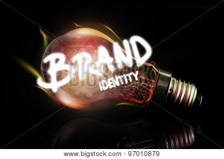 brand identity against glowing light bulb