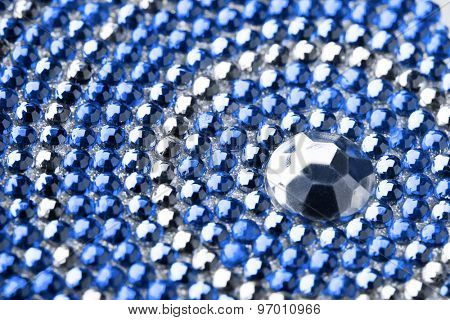 blue and silver texture with crystals