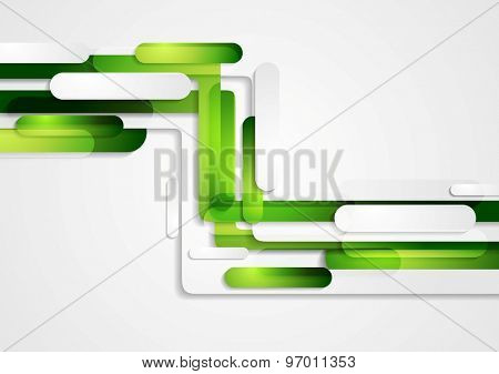 Abstract green geometric corporate tech background. Vector design