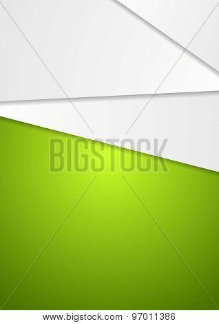 Abstract geometric green art design flyer. Vector background