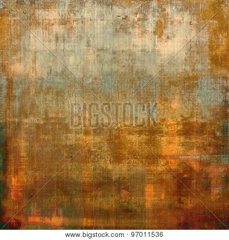 Antique vintage texture, old-fashioned weathered background. With different color patterns: yellow (beige); brown; cyan; red (orange)