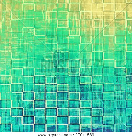Beautiful vintage background. With different color patterns: yellow (beige); blue; green; cyan