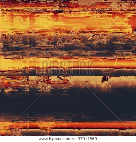 Old, grunge background texture. With different color patterns: yellow (beige); brown; purple (violet); red (orange)
