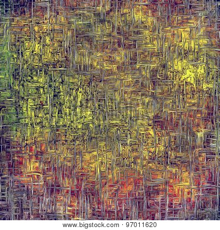 Old grunge antique texture. With different color patterns: yellow (beige); purple (violet); green; red (orange)