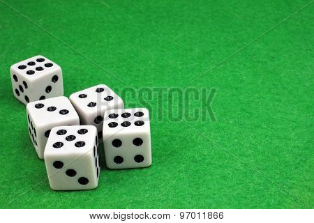 Five Dice For The Game Of Dice