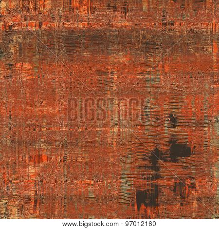 Grunge retro vintage texture, old background. With different color patterns: brown; gray; black; red (orange)