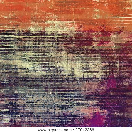 Old, grunge background texture. With different color patterns: brown; gray; purple (violet); red (orange)