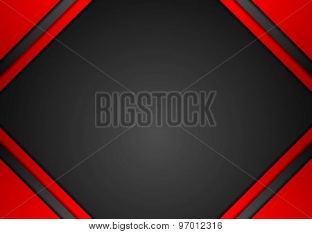 Red and black corporate art background. Vector design