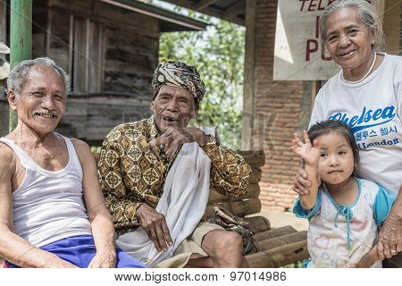Portrait Of People From Tana Toraja, Indonesia