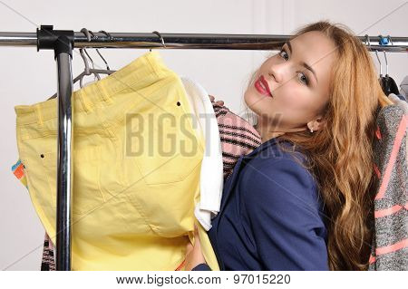 Woman In Formal Wear Excited Buying Things