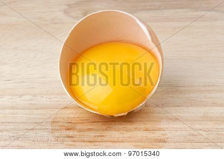 Broken Egg On Table