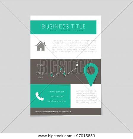 Flyer Design Template In Flat Design