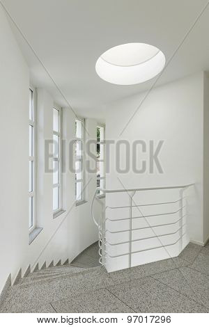 interior of a modern building, staircase view
