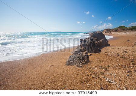 Rock On A Beach